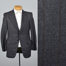 39S 1970s Mens Gray Wool Two Button Jacket Theater Costume Menswear 70s VTG