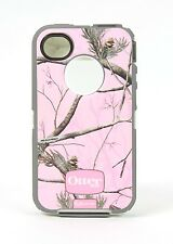 New OtterBox Defender Series Case for Apple iPhone 4S/4 Pink/APC Camo - No Clip!