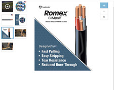 7.5 ft 91in 8/3 Southwire Romex SIMpull 8-3 Non-Metallic Wire NM-B