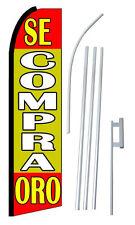 Complete 15' Se Compra Oro R/Y Kit Swooper Feather Flutter Banner Sign Flag