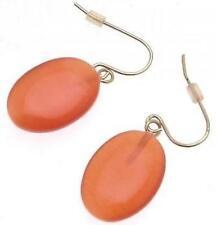 Fashion earrings orange drop design IAS84