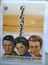GIANT James Dean movie poster Spanish RR1970 ELIZABETH TAYLOR rare LINEN-BACKED