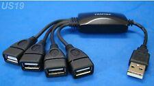 usa seller. NEW 4-WAY USB HUB MULTI Y ADAPTER SPLITTER 2.0 4-PORT. getwiredusa