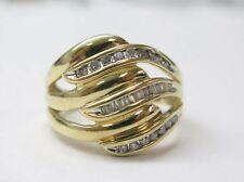 Fine Multi Shape 3 Row Diamond Ring YG 14KT