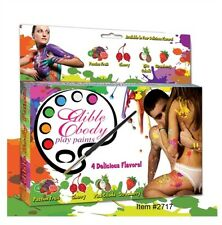 EDIBLE BODY PLAY PAINTS KIT Take Intimate play time to new Erotic Heights NEW