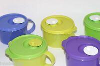 Tupperware Crystalwave Microwave Safe 2 cup Soup Mug Flip Cap Steam Vent Colors