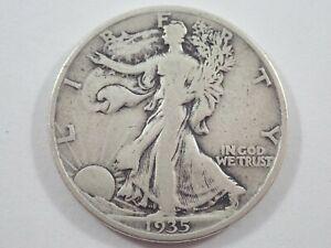1935 D DENVER LIBERTY WALKING 50c HALF DOLLAR US SILVER COIN