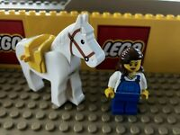 LEGO Minifigure Lot Girl With Horse & Saddle City Town Western Lady Minifig