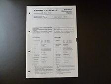 Original Service Manual Blaupunkt Autoradio Frankfurt Commander 7633650