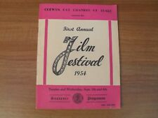 ANTHONY STEEL - Autographed Colwyn Bay 1st Annual Film Festival programme 1954