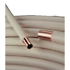 TUBO ROTOLO RAME PVC RIVESTITO ACQUA SANITARIA E GAS 14x1 MT.50 SMISOL PIU' KME