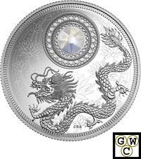 2016 'June - Birthstones' Crystalized Proof $5 Silver Coin 1/4oz .9999 (17677)