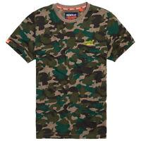 Superdry Nuovo Uomo Ol Vintage Ricamo T-Shirt - Cachi Grit Mimetico con