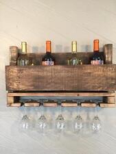 5 Glass Rustic Reclaimed Pallet Wine Rack