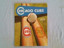 1975 Chicago Cubs Program and Scorecard - Spring Training
