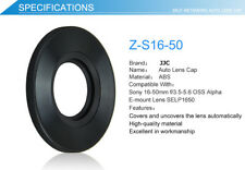 JJC Black Auto Lens Cap for SONY PZ 16-50mm F3.5-5.6 OSS SELP1650 Lens