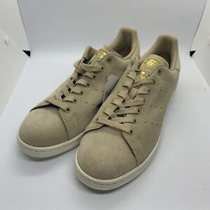 Adidas Stan Smith Premium Linen Khaki Suede Sneakers Men's Size 8 US BB0039