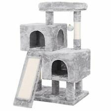New listing Bewishome Cat Tree Condo with Sisal Scratching Posts, Scratching (Light Grey)