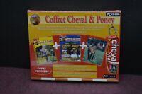 COFFRET JEU PC CD ROM ÉDUCATIF CHEVAL ET PONEY DVD LIVRE JOUET ENFANT