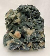Natural Stilbite On Quartz Crystal Matrix Mineral Display Specimen A7