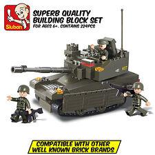 SLUBAN  ARMY LEOPARD TANK - Leading Brand Compatible Brick Building Toy