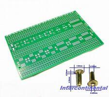 2pcs SMD IC Experiment Prototyping PCB Board Prototype, 50pcs Brass Rivets 0.9x3