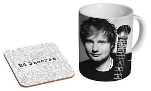 Ed Sheeran Lyrics BW  - Coffee / Tea Mug And Coaster Gift Set