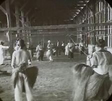 Native Hemp (Rope) Factory, Philippines, Magic Lantern Glass Slide