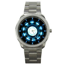 Fashion Movie Iron Man Tony Stark Arc Reactor Logo On Sport Metal Watch