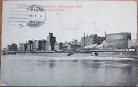 1911 Minneapolis, MN Postcard: Flour Milling District - Minnesota Minn