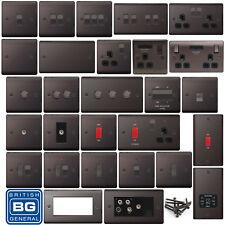 BG Black Nickel Light Switches & Sockets & Plugs Full Range with Black Inserts