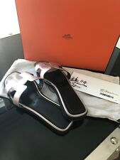 Authentic Hermes Oran Rose Gold Metalisse Sandals Size 37 Excellent Condition