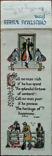 Christmas Wishes The Splendid Fortune of Content Vintage Savory Bookmark
