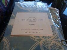 Pottery Barn Alana Medallion blue duvet full queen + 2 standard shams New