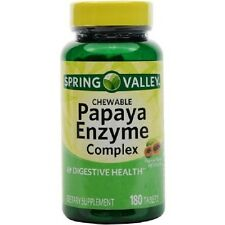 Spring Valley Papaya Enzyme Digestive Health Dietary Supplement 180 Ct