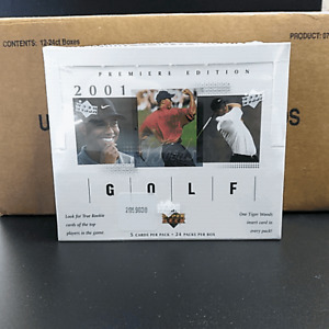 2001 UPPER DECK GOLF Factory Sealed Box from Sealed Case ~ Tiger Woods RC Auto?