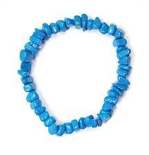 Bracelet Chip Dyed Howlite (Turquoise)