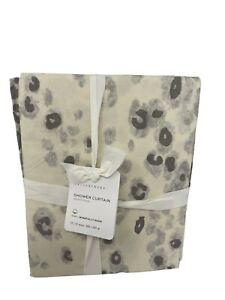 New Pottery Barn Snow Leopard Shower Curtain