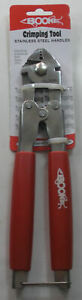 """Boone 06001 10"""" Heavy Duty Crimping Tool Stainless Steel Handle"""