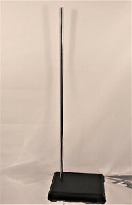 """24"""" Cast Iron Support Stand Rectangular Base Chemistry Biology Lab"""