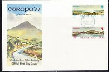 Isle of Man 1977 Europa Landscapes  First Day Cover