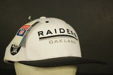 Vintage Oakland Raiders Snapback Hat Cap Retro NWT Team NFL Football White 9bb3db9df19a