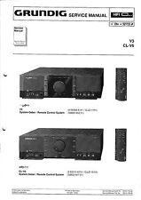 Service Manual-Anleitung für Grundig V 3,CL-V 6