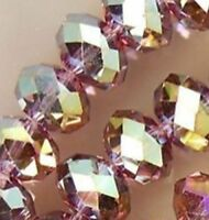 Wholesale Faceted Purple Red AB Rondelle glass crystal beads 4*6mm 100pcs