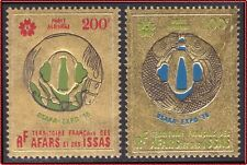 "1970 AFARS & ISSAS PA N°64/65**""Or"" poisson & cheval, Gold fish & horse MNH"