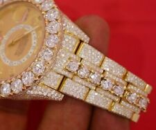 Rolex Sky-dweller Yellow Gold 326938 HUGE Bezel Fully Iced out 38 Ct Diamonds