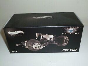 BATMAN Hot Wheels Elite 1:43 The Dark Knight Rises Batpod motociclo RAR NEW