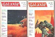 LOT GALAXIE n°36-37 # 1967 OPTA # FRITZ LEIBER/POUL ANDERSON/VAN VOGT/SHECKLEY