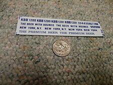 Herald King decals HO Knickerbocker Beer KBB Beer w/ bounce New York blue XX165