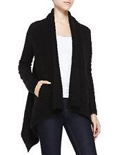 NWT $248 JOIE VANGELINE Black Boucle Knit Draped Cardigan Sweater - M Medium